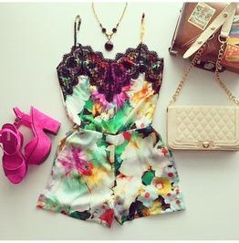 Bohemian Style Pattern Women Fashion Jumpsuits 1