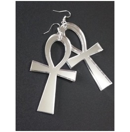 Ankh Mirror Earrings Curiology