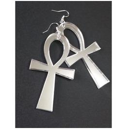 Ankh Mirror Earrings Curiology
