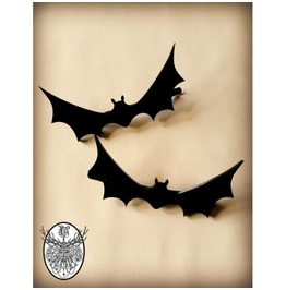 Black Bat Hair Clips Curiology