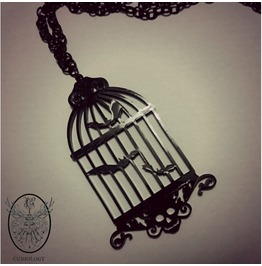 Bats In The Birdcage Necklace Curiology
