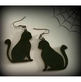 Black Cat Earrings Curiology