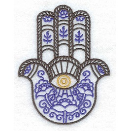 Embroidered Hamsa Hand Symbol Iron/Sew On Patch Evil Eye Patch Spirtual