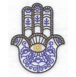 Embroidered Hamsa Hand Symbol Iron/Sew On Patch Evil Eye Patch Spirtual