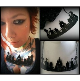 Cemetery Acrylic Necklace Curiology