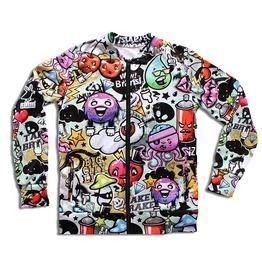 'mindfuck' Men's Printed Bomber Sweatshirt Gagaboo