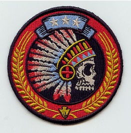 Embroidered Chief's Head Indian Skull Patch Iron/Sew Skull Patch