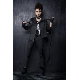Black Full Length Skinny Gothic Pants