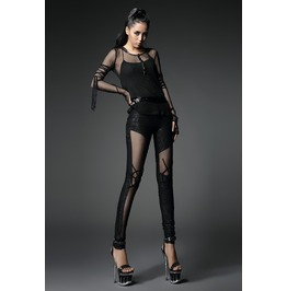 Womens See Through Gothic Spider Leggings