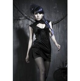 Gothic Black Backless And Sleeveless Dress