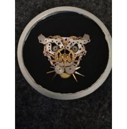 Steam Punk Tiger In Pocket Watch Case
