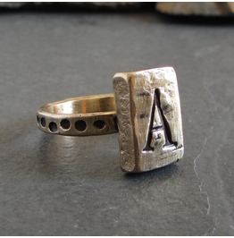 Bronze Monogram Ring