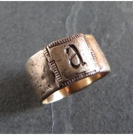 Unisex Bronze Initial Ring