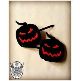 Evil Pumpkin Hair Clips Curiology