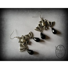 Gothic Bat Earrings Curiology