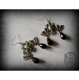 Gothic Bat Earrings Curiology