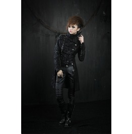 Women's Gothic High Mandarin Collar Vintage Look Long Military Coat/Jacket