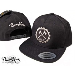 Yupoong Snapback Caps Rude Embrodery On Leather