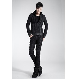 Men's Gothic Zip Up Black Jacket