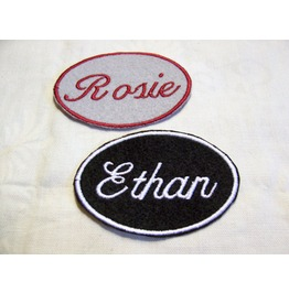 Embroidered Name Tag Patch Iron/Sew On Any Color Any Name Personalized