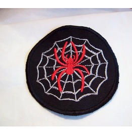 Embroidered Spider In Web Iron On/ Sew On Patch Badge