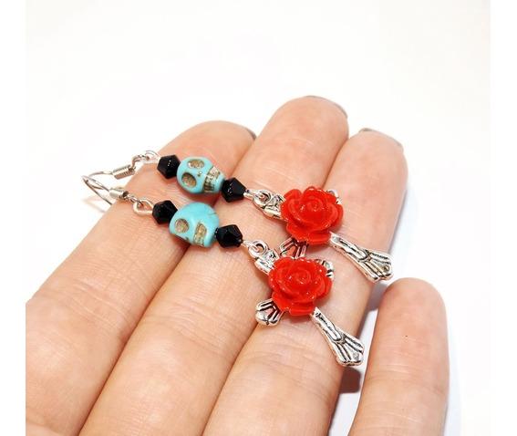 handmade_turquoise_skull_red_rose_cross_rockabilly_earrings_earrings_4.jpg