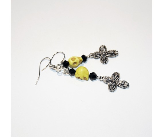 handmade_rockabilly_yellow_howlite_skull_embossed_cross_earrings_earrings_3.jpg
