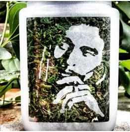 Bob Marley Etched Glass Stash Jar
