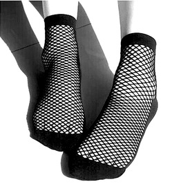 Rocker Black Fishnet Ankle Socks