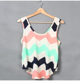 Summer Sexy Lady Vest Chiffon Women Tank Tops Sleeveless Camis Cropped