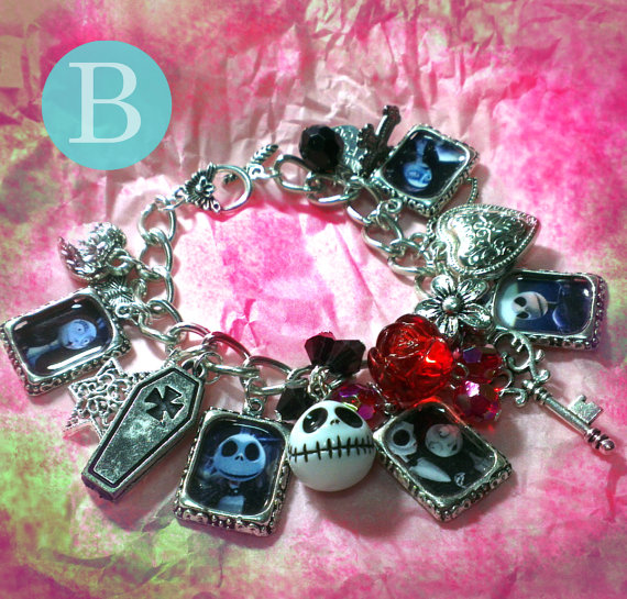 Tim Burton The Nightmare Before Christmas Charm Bracelet B 94861