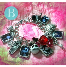 Tim Burton The Nightmare Before Christmas Charm Bracelet B
