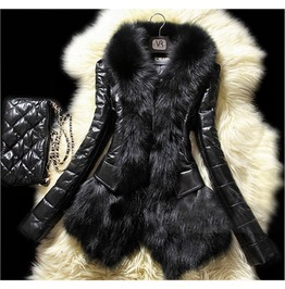 Kitty's Colorado Rockies Leather Faux Fur Winter Coat Ty700 Qs