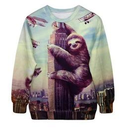 Sloth Sweatshirt / Sudadera Perezoso Wh305