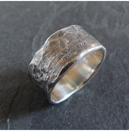 Rough Textured Sterling Silver Band