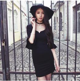 Sexy Witch Black Dress