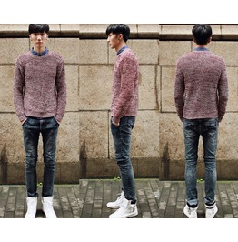 2015 Spring/Autumn Men O Neck Pullovers Sweaters Casual Knit Outwear
