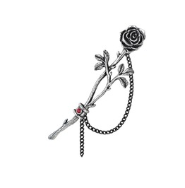 Chained Love Rose Ladies Gothic Ear Wrap By Alchemy Gothic