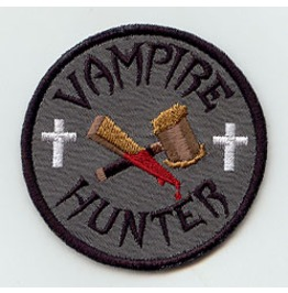 Embroidered Vampire Hunter Iron/Sew On Patch Badge Vampire Patch