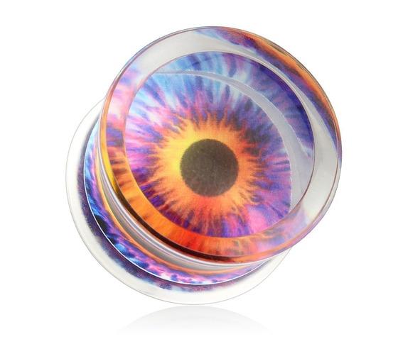 eyeball_print_encased_clear_acrylic_saddle_fit_plug_pair_00_ga_ear_gauge_plugs_and_tunnels_2.jpg