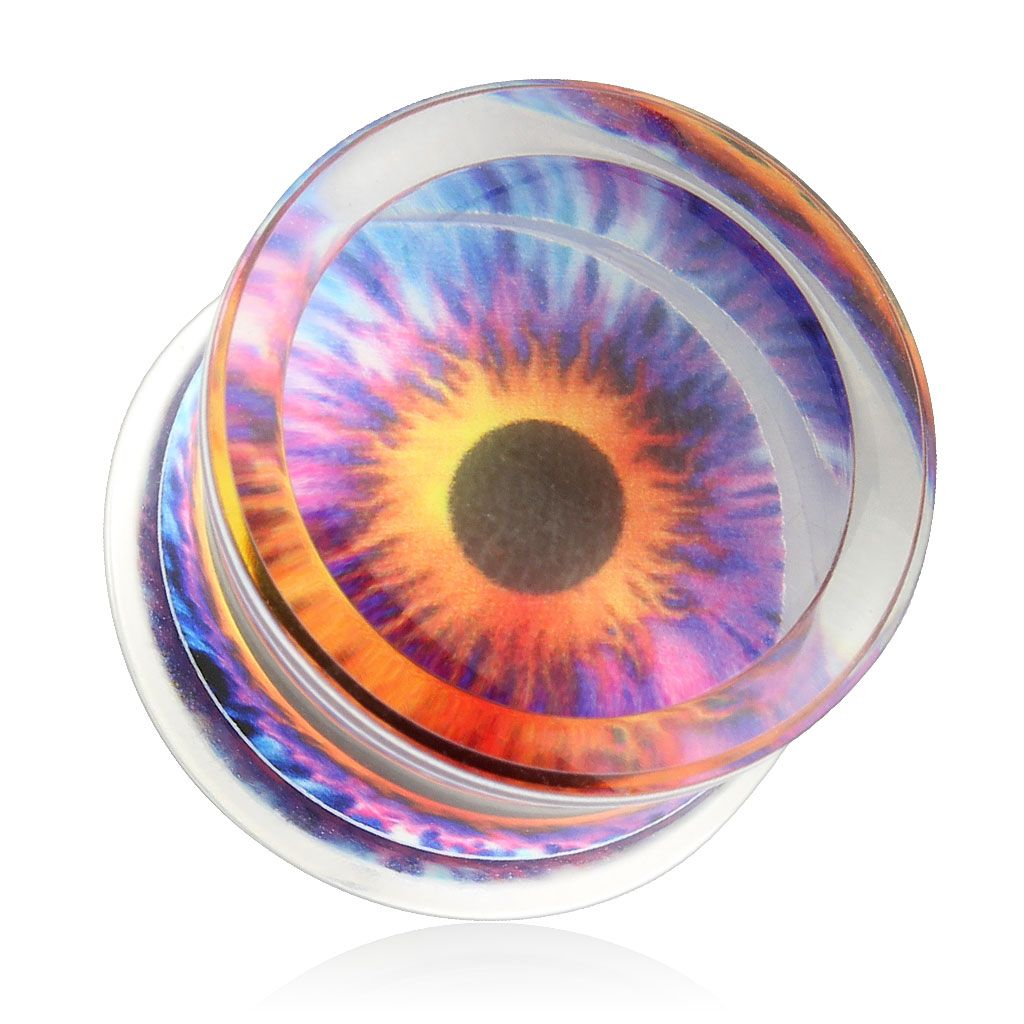eyeball_print_encased_clear_acrylic_saddle_fit_plug_pair_00_ga_ear_gauge_plugs_and_tunnels_2.jpg