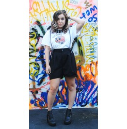 Up Cycled Suspender Shorts