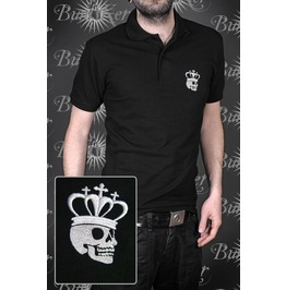 Embroidered Men Polo Royal Skull