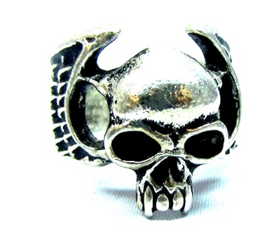 cool_skull_head_design_tibetan_silver_ring_small_earrings_2.jpg
