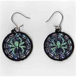 Handmade Spiderweb Earrings For Pierced Ears Spider In Web Lace Earrings