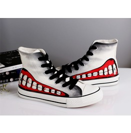 Zombie Style Ghouls Printed Sneakers