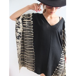 Hippie Tie Dye Poncho Dress