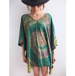 Hippie Tie Dye Poncho Fashion Indie T Shirt Dress