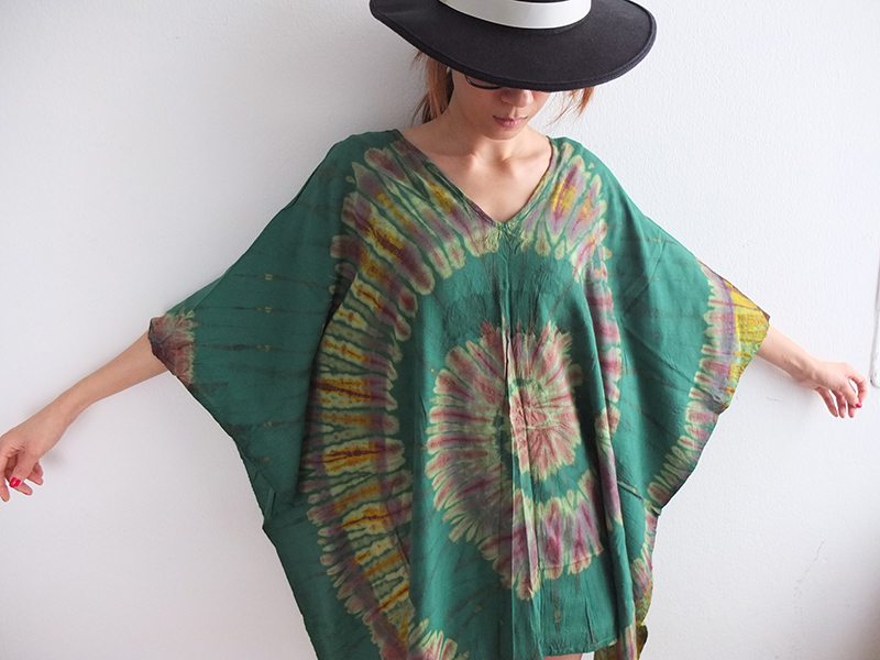 Hippie Tie Dye Poncho Fashion Indie T Shirt Dress 95379