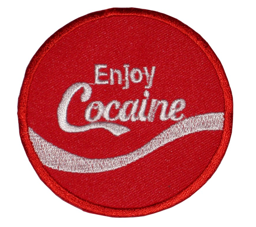 patch_iron_on_sew_on_enjoy_cocaine_fun_patch_party_persiflage_patches_2.jpg